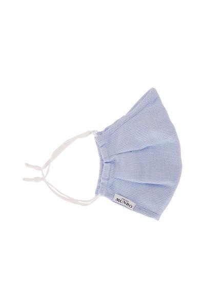 Atelier Munro - Light Blue Herringbone Mask