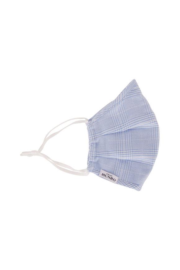 Atelier Munro Light Blue Plaid Mask