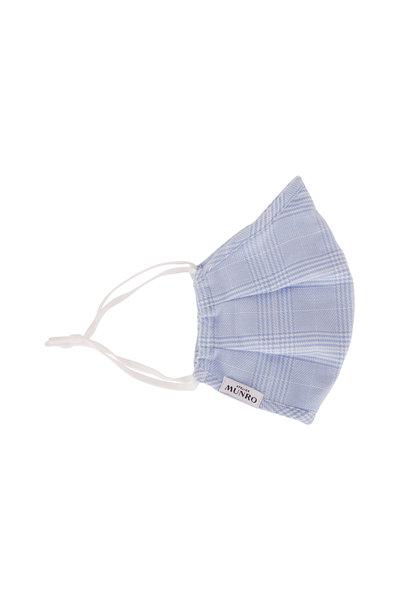 Atelier Munro - Light Blue Plaid Mask