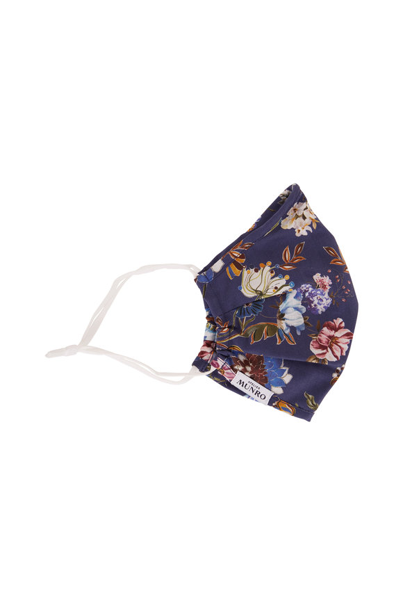 Atelier Munro Medium Blue Floral Print Mask
