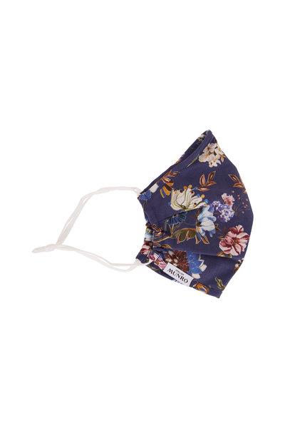 Atelier Munro - Medium Blue Floral Print Mask