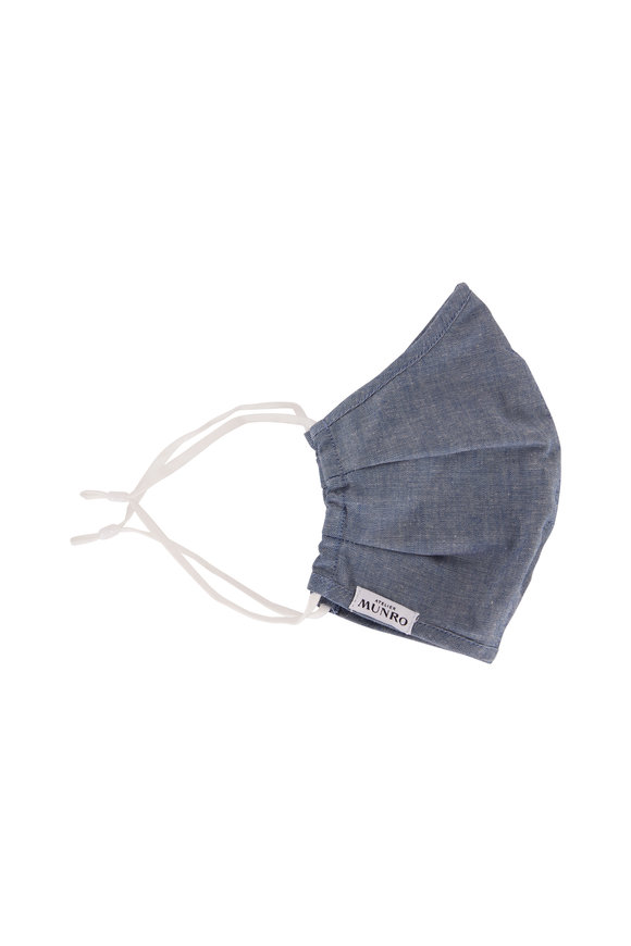 Atelier Munro Dark Blue Chambray Mask