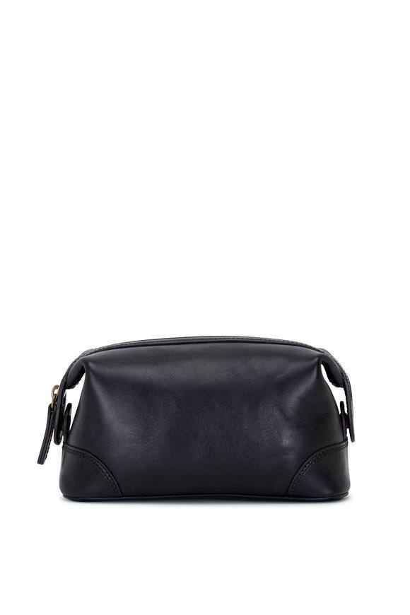 Bosca Small Black Leather Dopp Kit