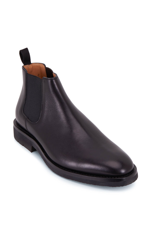Heschung Fusain Noir Leather Chelsea Boot