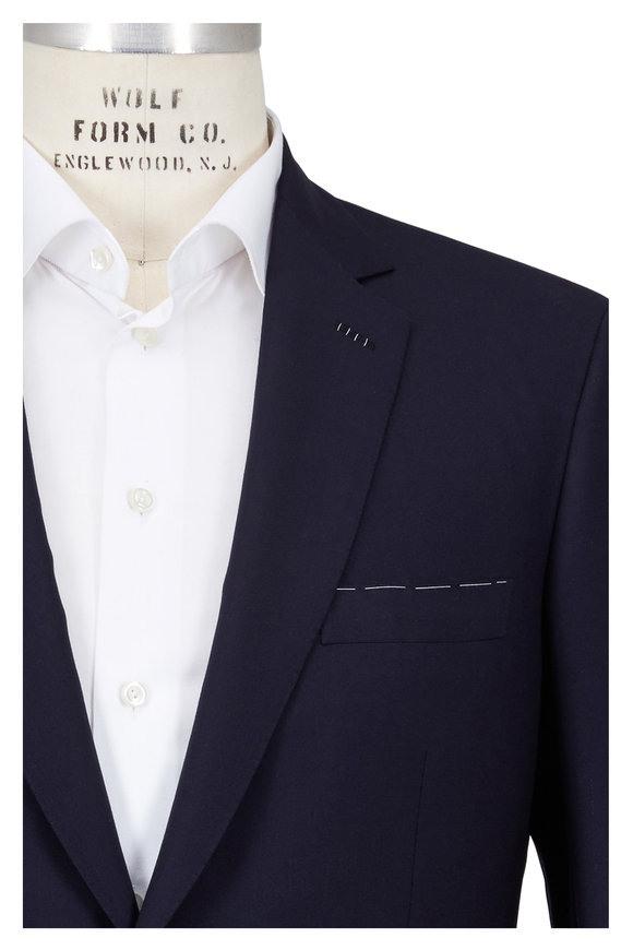 Brioni Navy Blue Escorial Wool Sportcoat