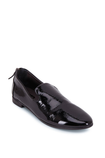 Marsell - Black Patent Leather Back Zip Pointed Slipper