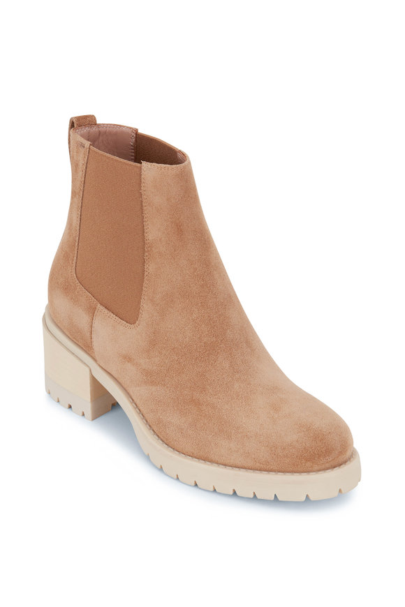 Santoni Eve Light Brown Suede Ankle Boot