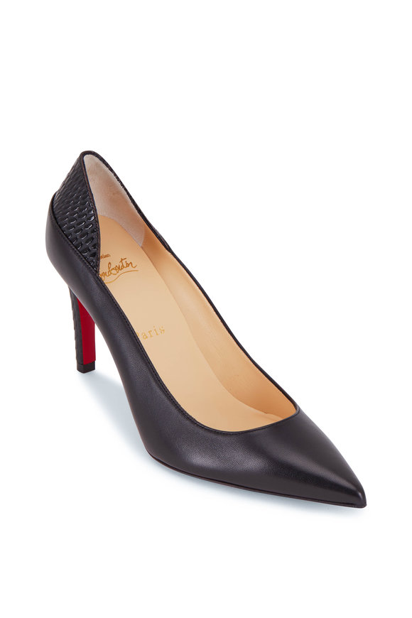 Christian Louboutin Maastricht Black Scallop Pump, 85mm