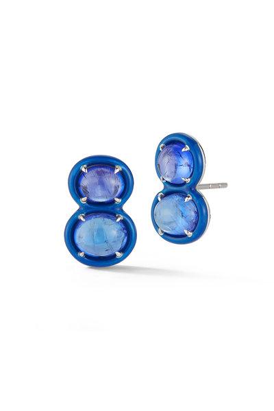 Katherine Jetter - 18K White Gold Tumbled Tanzanite Stud Earrings