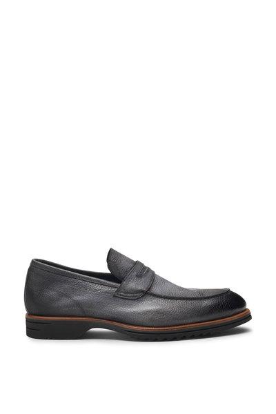 Di Bianco - Brera Black Leather Penny Loafer