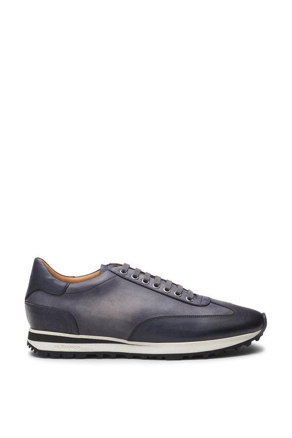 Di Bianco Trieste Smoke Gray Suede Running Sneaker