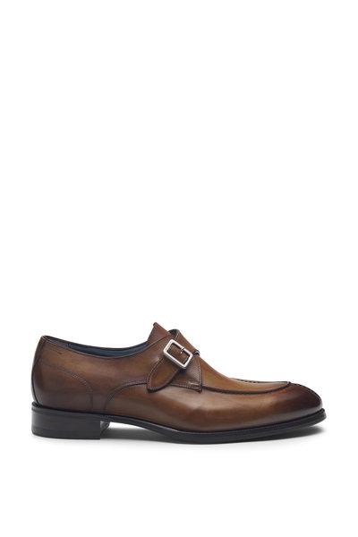 Di Bianco - Trevisio Reverse Sombrero Leather Single Monk Shoe