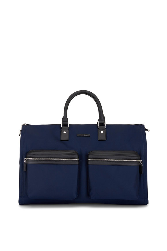 Hook + Albert Navy Blue Nylon Garment Bag