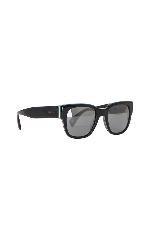 Paul Smith Black Eamont Deluxe Onyx Stripe Sunglasses