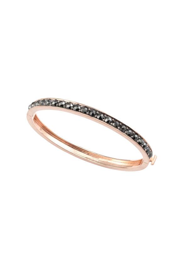 Sylva & Cie 14K Rose Gold Black Diamond Bangle