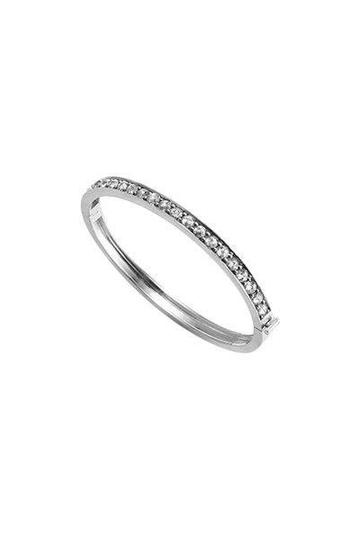 Sylva & Cie - 18K White Gold Gray Diamond Bangle