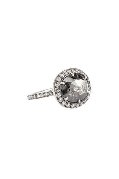 Sylva & Cie - 18K White Gold Rough Cut Diamond Ring