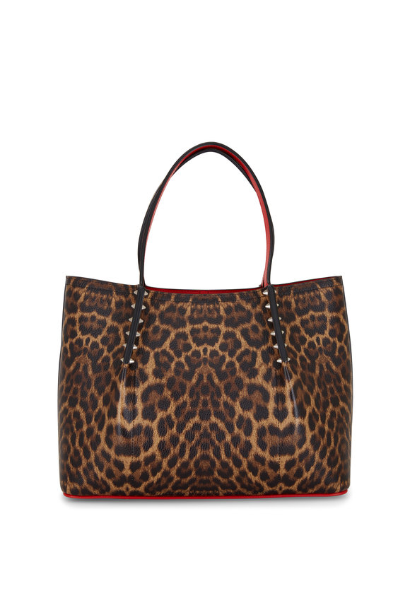 Christian Louboutin Cabarock Leopard Leather Large Tote Bag