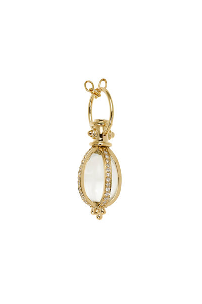 Temple St. Clair - 18K Yellow Gold Crystal & Pavé Diamond Amulet