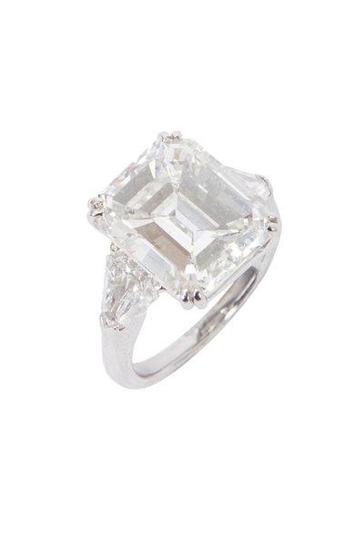 Louis Newman - Emerald-Cut Diamond Bridal Ring