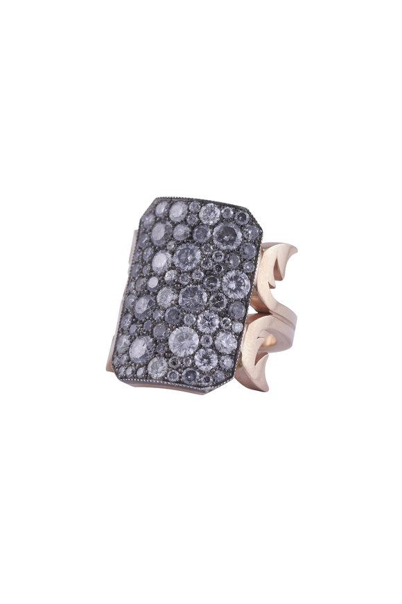 Sylva & Cie Gold Diamond Ten Table Ring