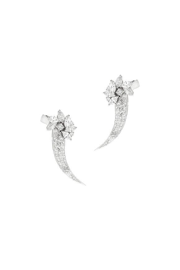 Yeprem 18K White Gold Diamond Earrings