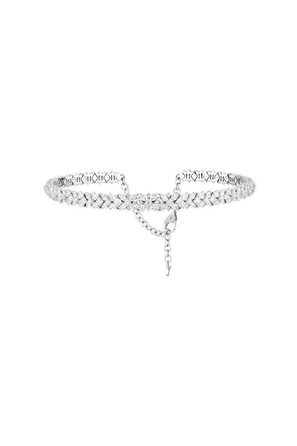 Yeprem 18K White Gold Diamond Choker