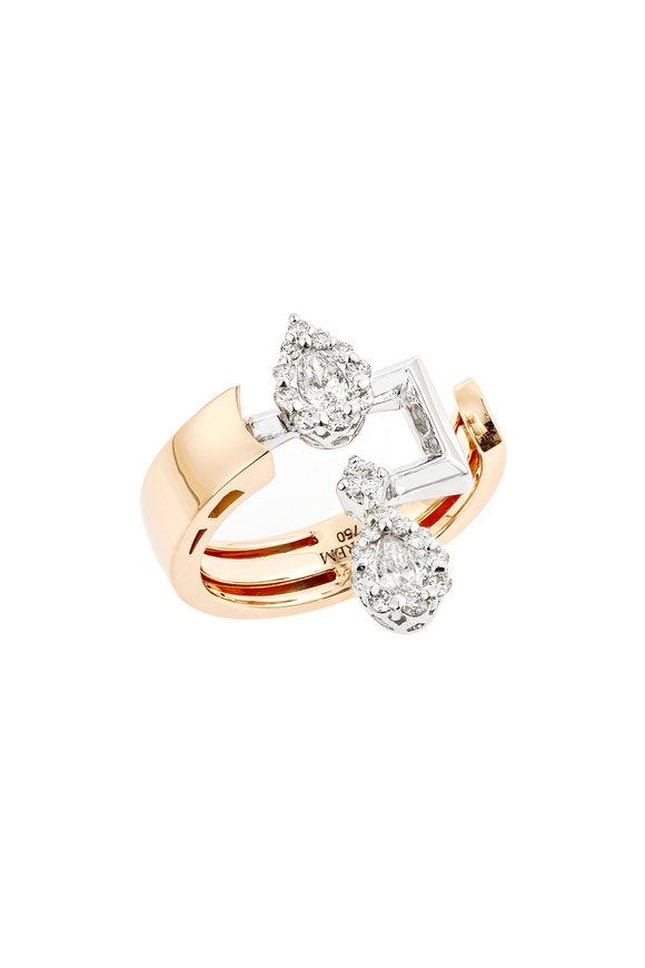 Yeprem 18K Rose Gold Diamond Ring
