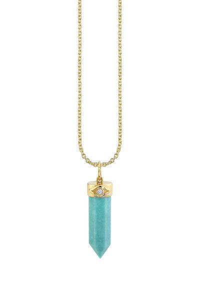 Sydney Evan - 18K Yellow Gold Turquoise Pendant Necklace