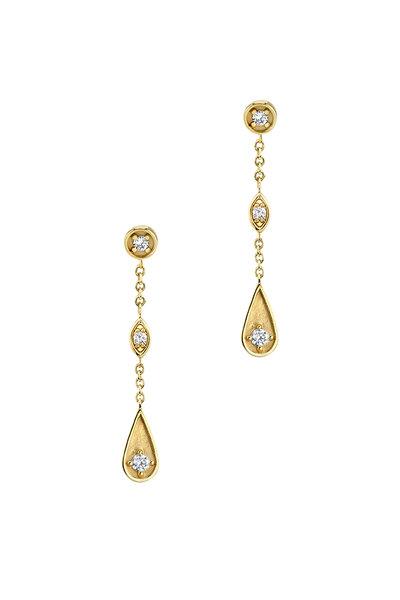Sydney Evan - 18K Yellow Gold Marquis Teardrop Earrings