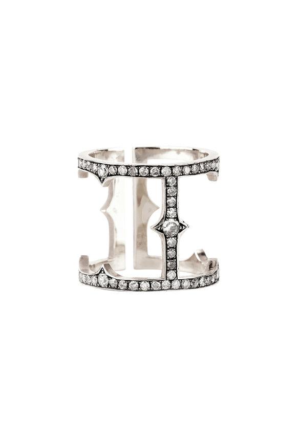 Sylva & Cie 18K White Gold Diamond Cage Ring