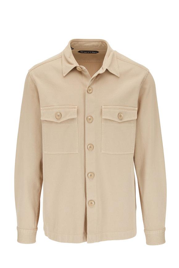 Tom Ford Beige Cotton Twill Overshirt