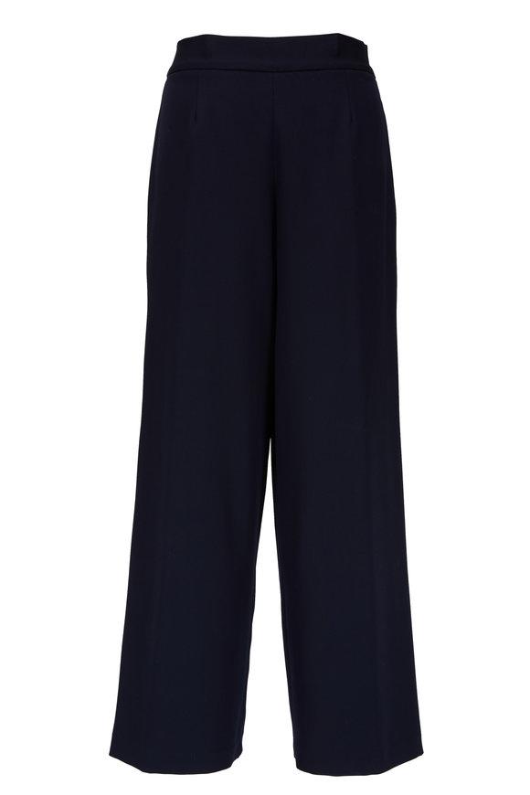Kiton Navy Blue Side-Zip Skinny Pant