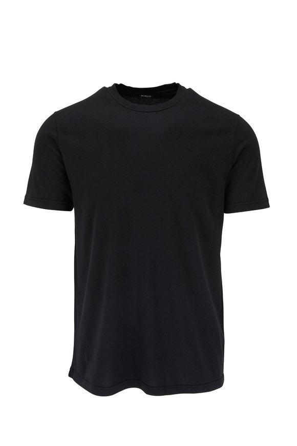 Kiton Black Cashmere & Wool T-Shirt