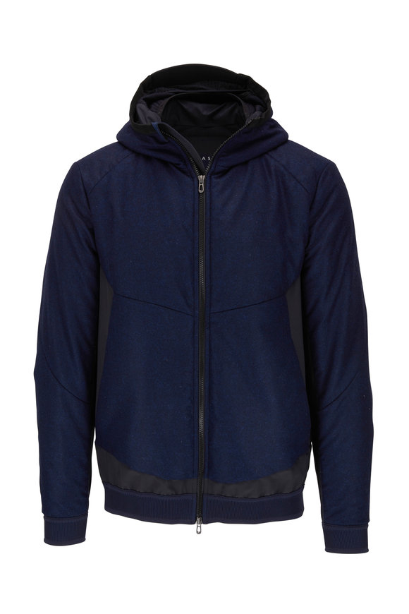 Sease Predator Navy Blue Technical Wool Windbreaker