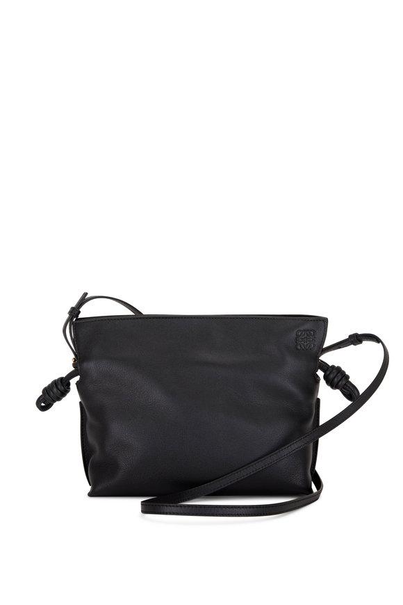 Loewe Mini Flamenco Black Leather Clutch
