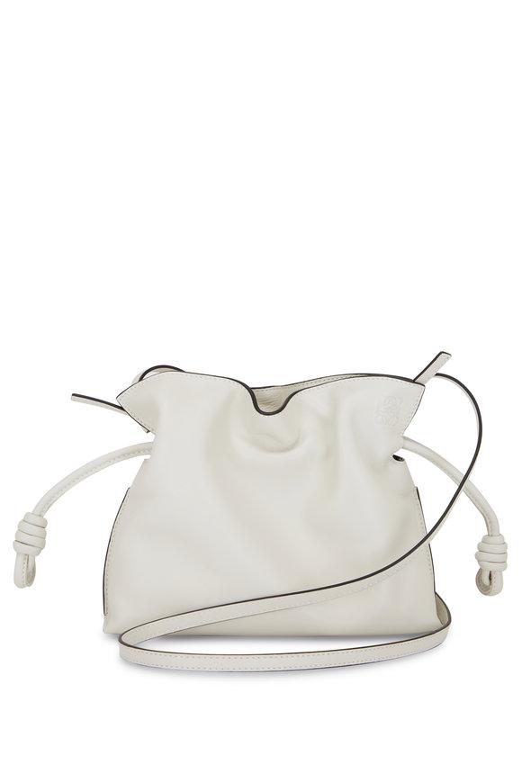 Loewe Mini Flamenco White Leather Knot Bag