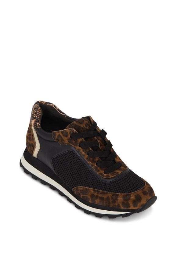 Veronica Beard Hartley Camel Leopard Print Sneaker