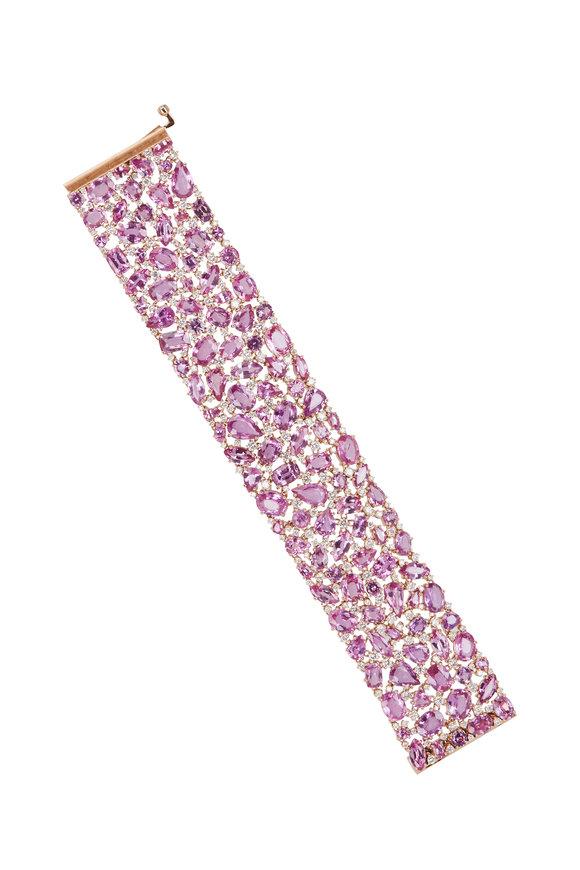 Sutra 18K Rose Gold Pink Sapphire & Diamond Bracelet