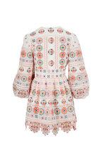 Zimmermann - Brighton White Cotton Plunge Dress