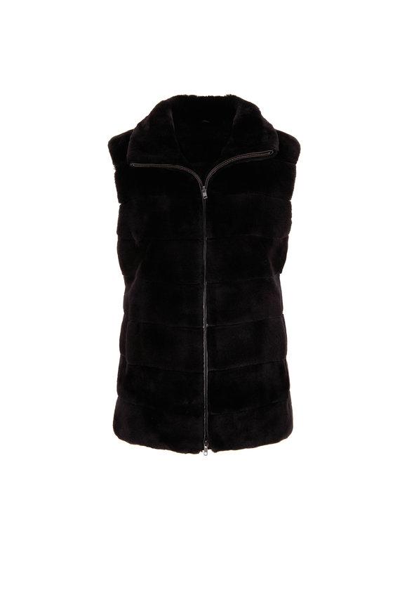 Oscar de la Renta Furs Dark Brown Dyed Matara Mink Vest