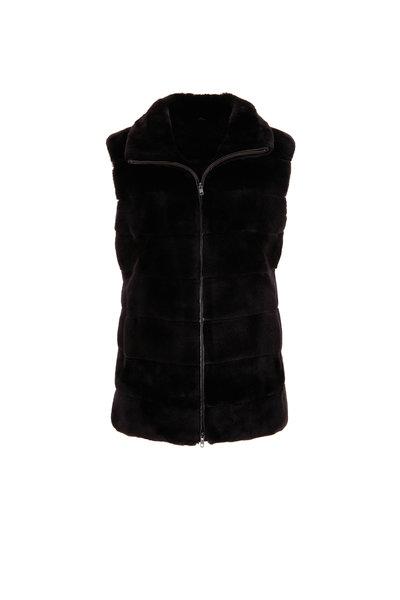 Oscar de la Renta Furs - Dark Brown Dyed Matara Mink Vest