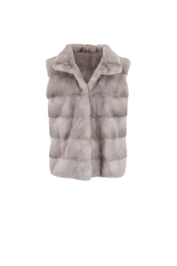 Oscar de la Renta Furs Natural Sapphire Mink Vest