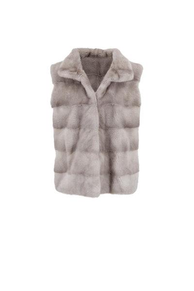 Oscar de la Renta Furs - Natural Sapphire Mink Vest