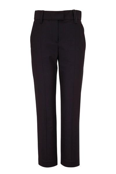 Brunello Cucinelli - Black Couture Gabardine Cigarette Leg Pant