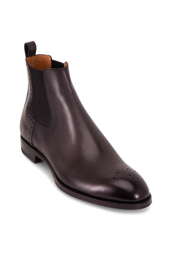 Berluti Blake Black Leather Wingtip Boot