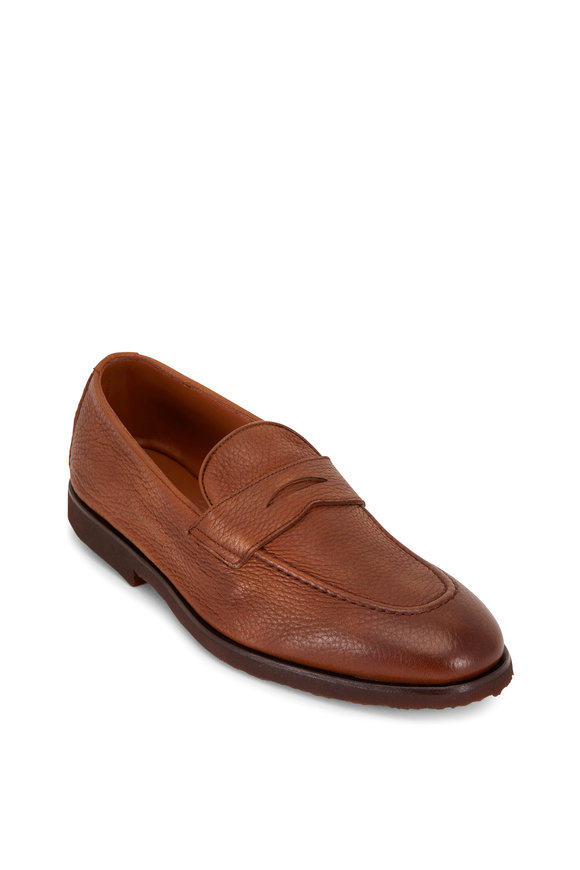 Brunello Cucinelli Medium Brown Deerskin Penny Loafer