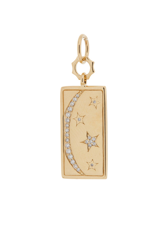 Monica Rich Kosann 18K Yellow Gold My Sun, Moon & Stars Tag Charm
