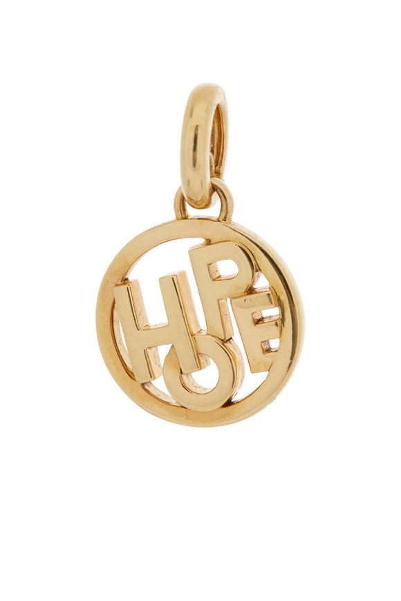 Sidney Garber 18K Yellow Gold Small Hope Charm