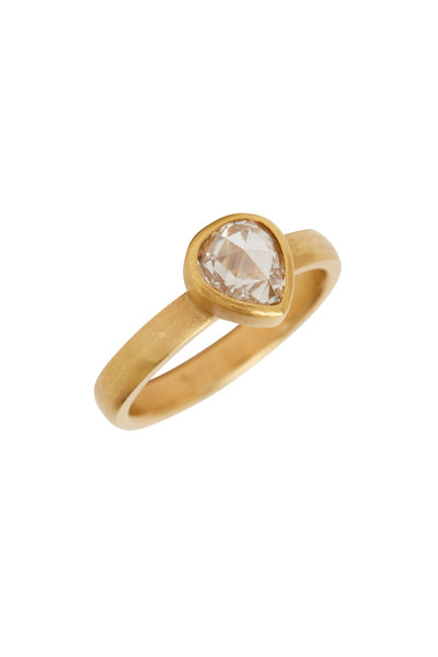 Caroline Ellen - 22K Yellow Gold Rose Cut Diamond Ring